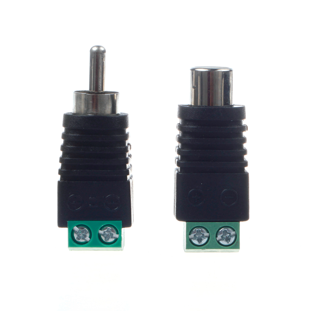 mllse pair speaker wire cable to female male rca connector adapter jack plug ce0124 ce0125 in. Black Bedroom Furniture Sets. Home Design Ideas