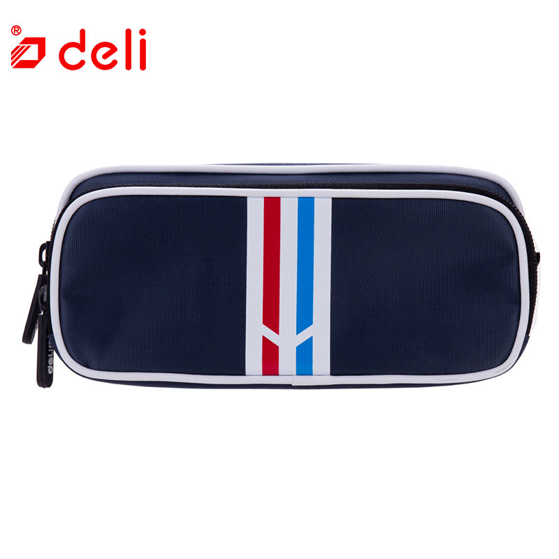 Deli Fashion Pencil Bag School Supplies Stationery Pencil Case 2 Layers Canvas Pen Bag For Kids Student kawaii Pencil bag gift new cute beautiful world canvas pencil case kawaii kids girl pencil bag pen bag pouch student school supplies stationery gifts
