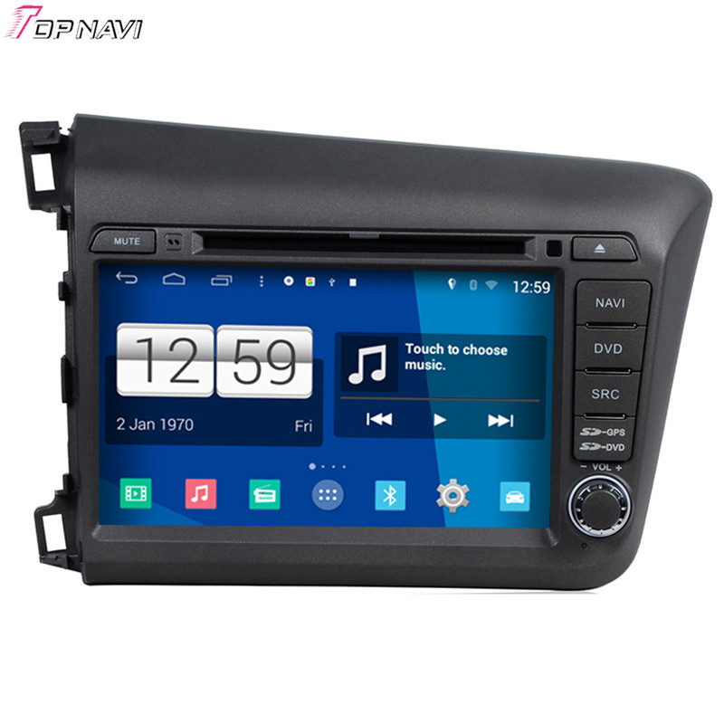 Free Shipping 8'' Quad Core S160 Android 4.4 Car DVD GPS For New Civic For Honda With Wifi BT Stereo Radio Audio Mirror Link