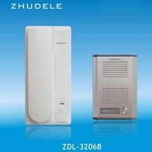 ZHUDELE ZD-3206B высокого качества, для детей возрастом от 2 двухсторонний домофон для дома домофон аудио дверной звонок, 2-проводной аудио домофон функция разблокирования