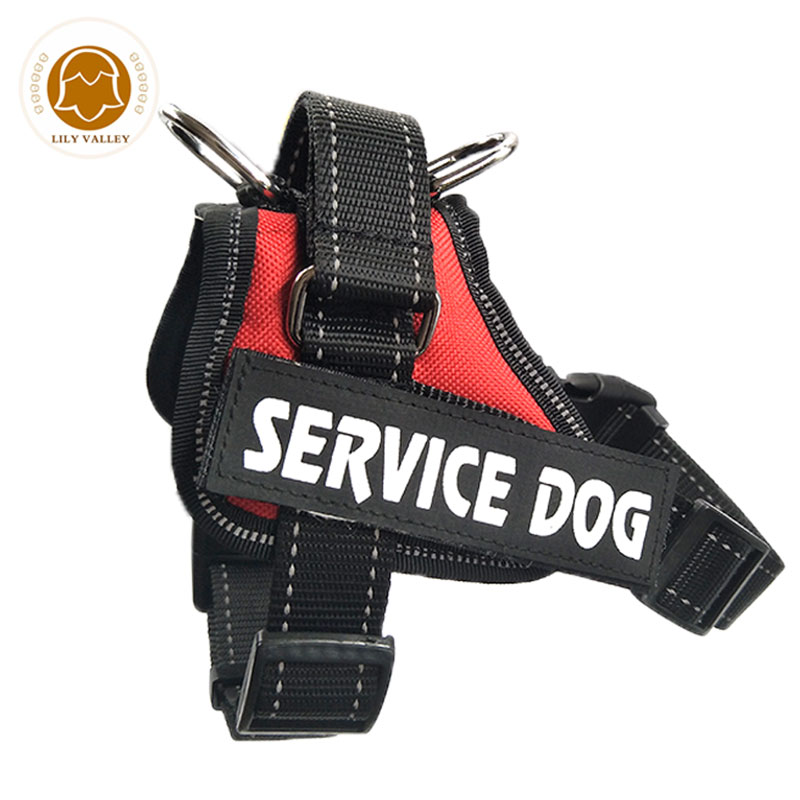 Reflective Service Dog Harness Pet Training Vest With Quick Control Handle For Medium & Large Breeds Harness For Dog Breast
