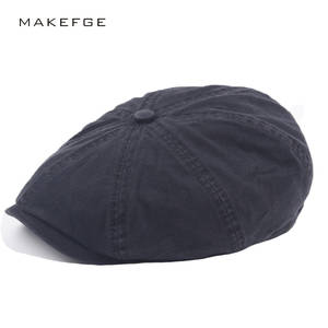 07a8e71b85c MAKEFGE Male Newsboy Summer Women Ivy Flat Cap Men Berets