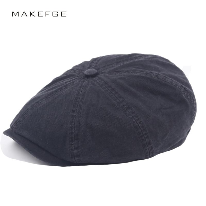 Regalo del Padre masculino Newsboy Octagonal Caps verano hombres mujeres  Casual Color sólido Ivy Flat Cap hombres moda clásico boinas plana sombrero  para el ... ae765044b4c4