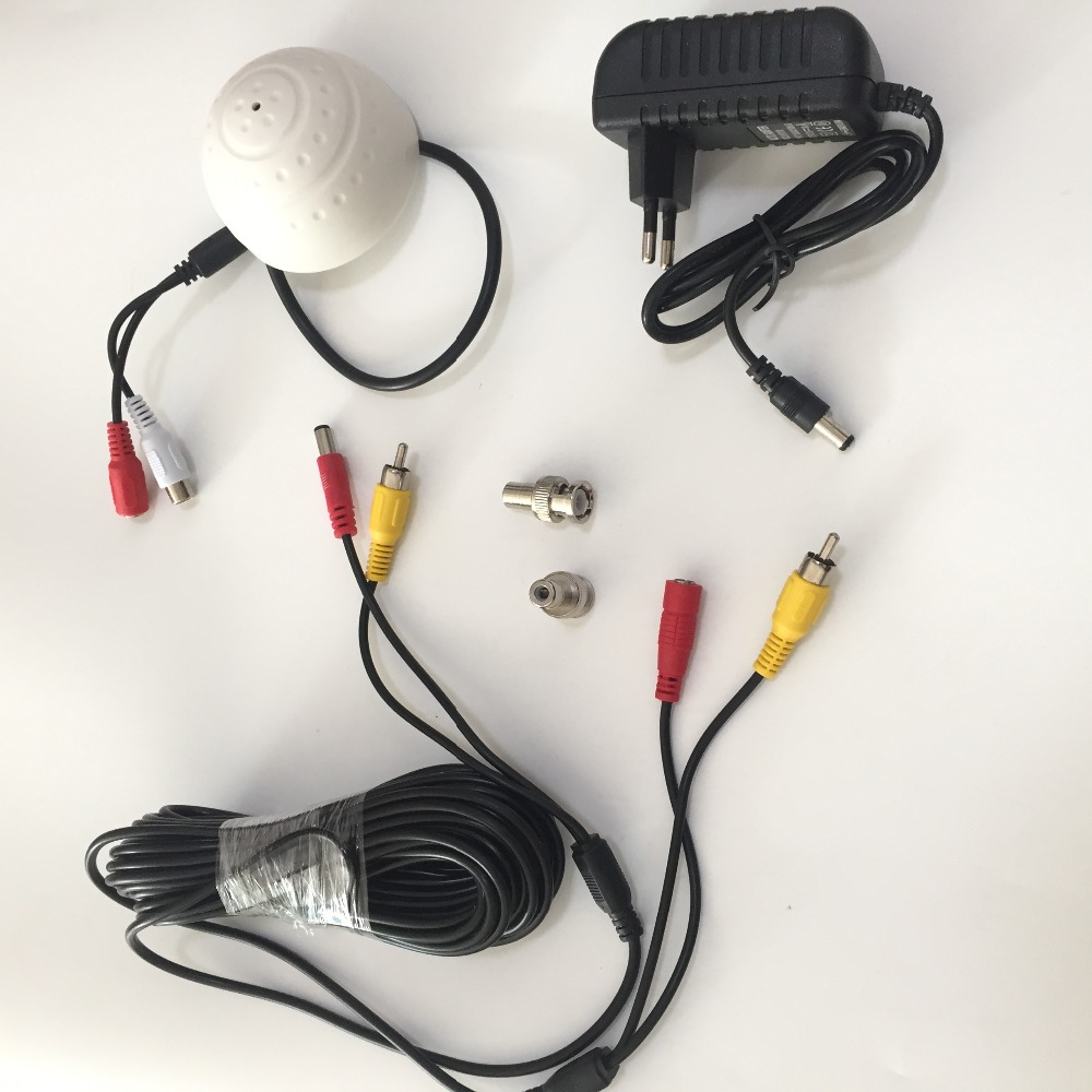 Image 5 - DC 6 12V CCTV High Sensitive Microphone Security Camera RCA Audio Mic DC Power 20m Cable For Home Security DVR System add 12V DC-in CCTV Microphone from Security & Protection