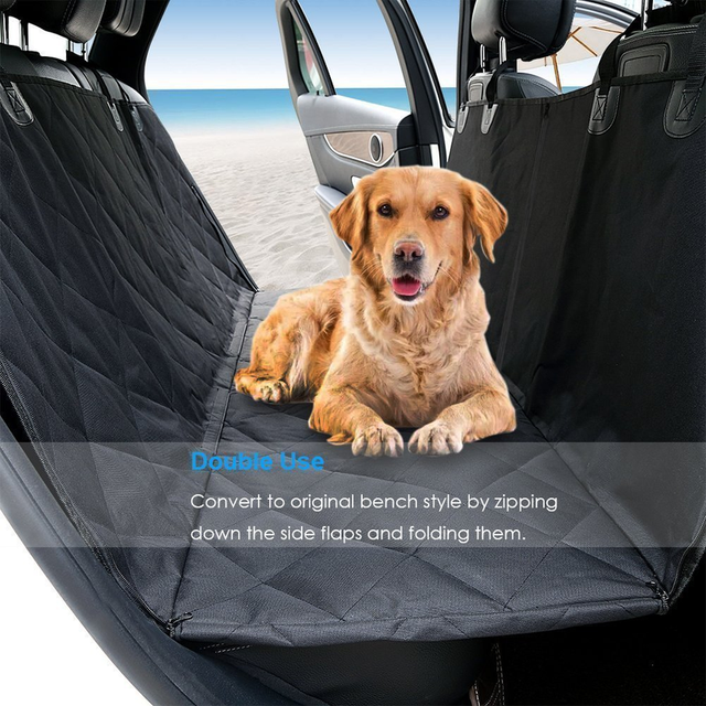 Dog Cover Hammock 600D Heavy Duty Waterproof Scratch Proof Nonslip Durable Soft Pet Back Seat Covers for Cars Trucks and SUVs 4