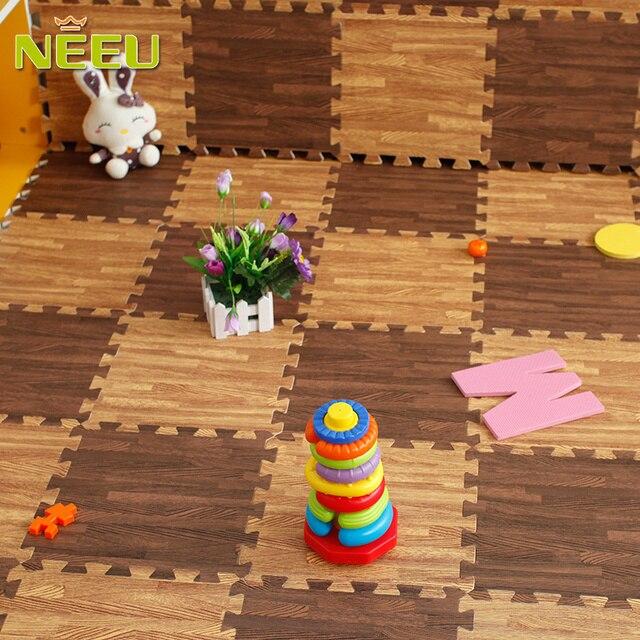 9 pz/lotto 300mm eva foam puzzle mat tappeto di legno del grano ...