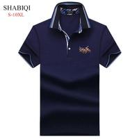SHABIQI 2018 Классическая брендовая мужская рубашка-поло с коротким рукавом Поло Футболка дизайнерская рубашка-Поло Плюс Размер 6XL 7XL 8XL 9XL 10XL