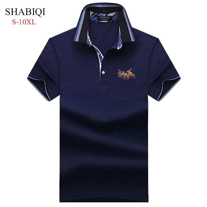 SHABIQI 2018Classic Brand Men shirt Men   Polo   Shirt Short Sleeve   Polos   Shirt T Designer   Polo   Shirt Plus Size 6XL 7XL 8XL 9XL 10XL