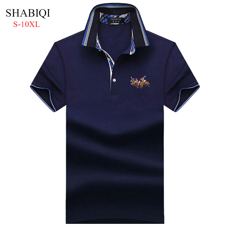 SHABIQI 2019Classic Brand Men shirt Men   Polo   Shirt Short Sleeve   Polos   Shirt T Designer   Polo   Shirt Plus Size 6XL 7XL 8XL 9XL 10XL