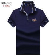 SHABIQI 2021 Классическая брендовая мужская рубашка Поло рубашка с коротким рукавом Поло Футболка дизайнерская рубашка поло размера плюс 6XL 7XL 8XL ...
