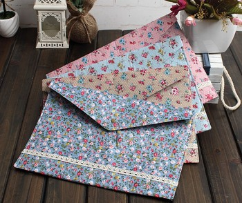 12pcs/lot New vintage dots flower lace series A4 documents file bag File folder stationery Filing Production Wholesale