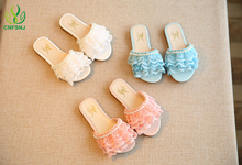 CNFSNJ girls shoes 2017 new summer lace beading fashion girls sandals child skid beach princess shoes sandals size 23-36