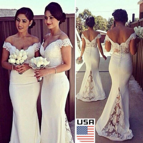 dad8bbb3fb US $12.45 |2017 New Arrival Bridesmaid Chiffon&Lace Dresses Women Long  Formal Prom Dress Cocktail Party Wedding Ball Gown Evening Dresses-in  Cover-Ups ...