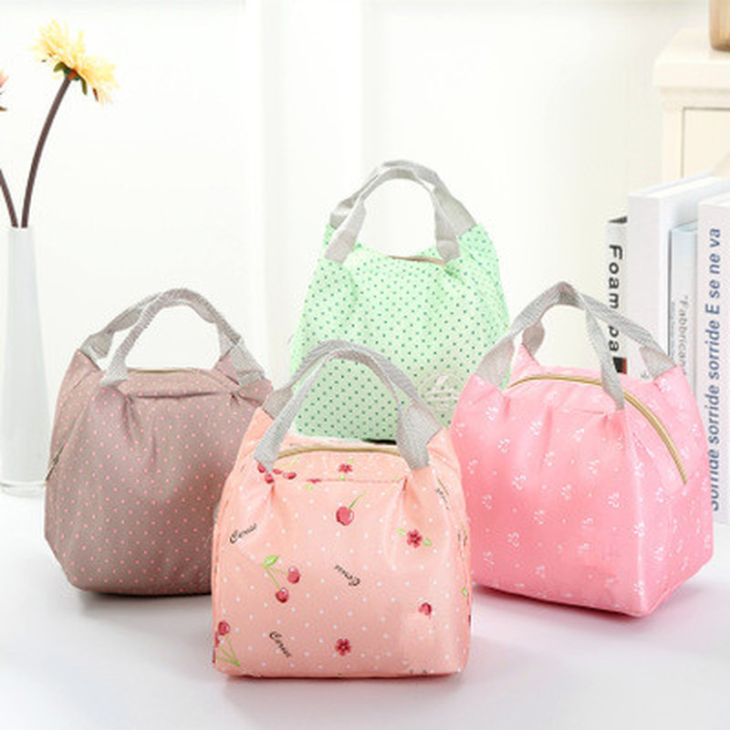 Functional Pattern Cooler Cute Portable Thermal Insulated Lunch Container Lunch Box Portable Food Containe Storage Bag Picnic