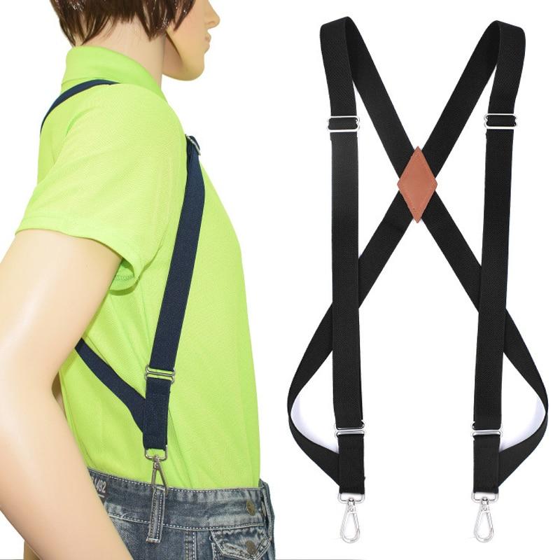 Men's Suspenders Braces Hunting Hook Suspenders Adult Suspensorio Tirantes Hombre Bretelles Motorcycle Suspenders Hook Strap