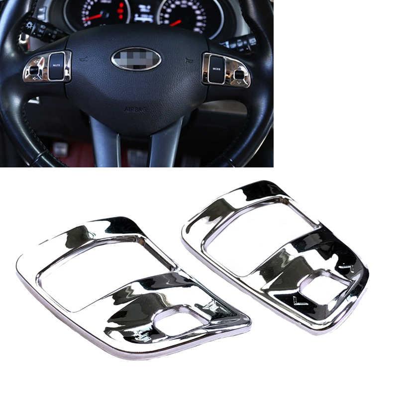 JEAZEA New kế xe 2 cái Wheel ABS Chrome Chỉ Đạo Molding Bìa Trim đối Kia Sportage R 2011 2012 2013 2014 2015 LHD