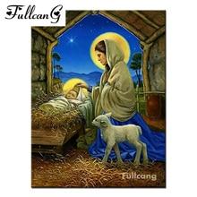 FULLCANG diamond embroidery Jesus sleeping music 5d diamond painting cross stitch people full square mosaic needlework E1000
