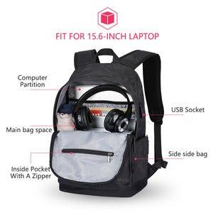 Image 4 - Рюкзак Hk мужской с USB портом для ноутбука 15 дюймов, маленький школьный ранец из ткани Оксфорд, удобный Молодежный дорожный портфель на плечо для мужчин и женщин