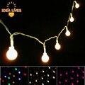 Pequeña Bola de la Secuencia del LED 220 V 10 m 100LED/Alimentación Caja de la Batería 4 m 40LED Cuerdas de Iluminación.