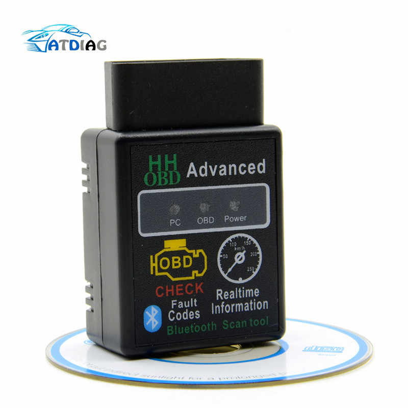 ELM327 HH OBD Blueto Bluetooth OBD2 can bus obdii Check Engine Voiture Scanner Diagnostique Automatique Outil Adaptateur D'interface Pour Android PC