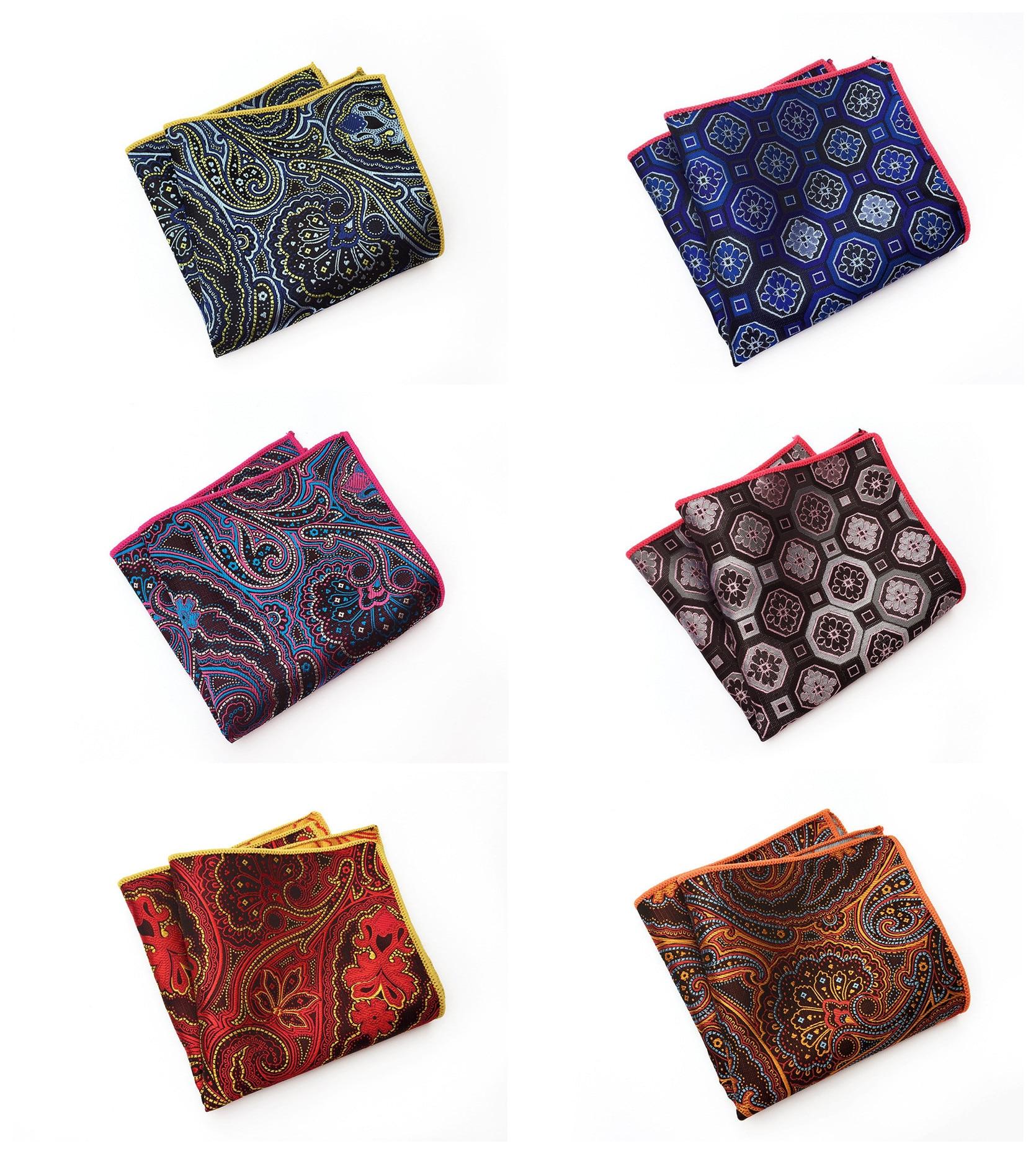 Unique Design Quality Paisley Polyester Pocket Towel 2019 Fashion Explosion Business Suit Dress Pocket Towel 9 Color Combination