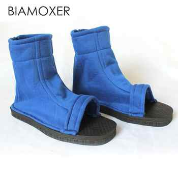 Biamoxer Cosplay Shoes Top Naruto Konoha Ninja Village Black Blue Sandals Boots Costumes Gift - DISCOUNT ITEM  19% OFF All Category