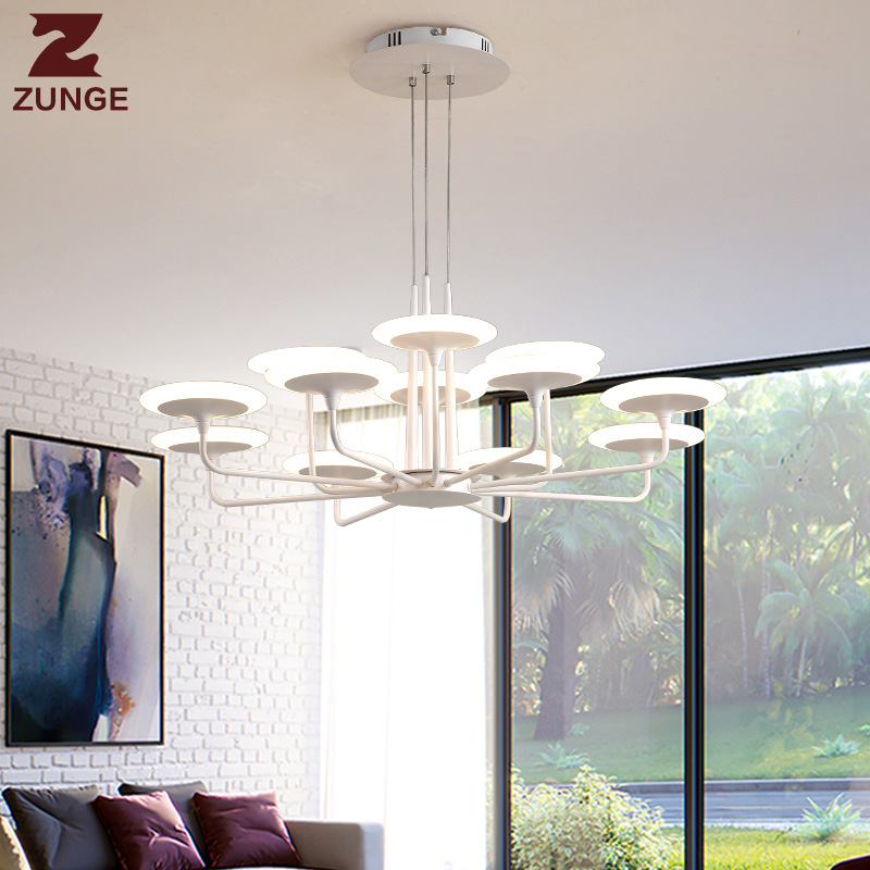 ZUNGE LED pendant light living room lamp simple modern atmosphere P667 dining room lamp bedroom luminaire modern simple three head lamp living room bedroom lamp warm romantic creative dining pendant lamp led