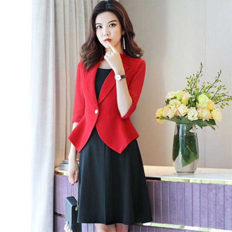 2019 New Blazer And Dress Women's Wear Autumn Fashion Temperament Workwear And Dresses For Official Lady Dress