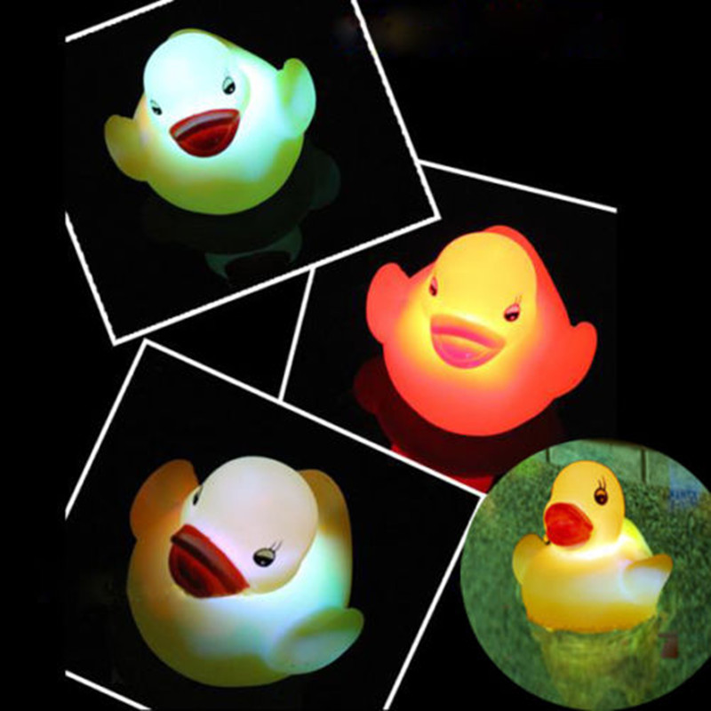 aliexpresscom buy 2016 new yellow rubber duck bath flashing light toy led changing baby bathroom toys multi color led lamp bath toys for children from - Multi Bathroom 2016
