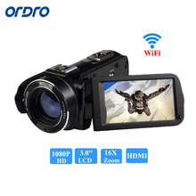"ORDRO HDV-Z20 Microphone Camcorder Three.zero"" Contact Display LCD 24MP 16X Zoom Digital Video Digital camera 1080P Full HD Wifi Distant Management"