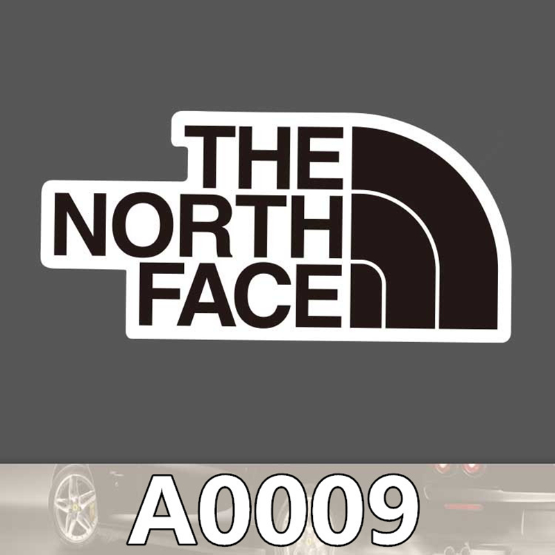 2pcs/bag THE NORTH FACE Tip Sticker Travel Skateboard Trolley Sticker Body Sticker Cartoon Graffiti PVC Waterproof Sticker A0009