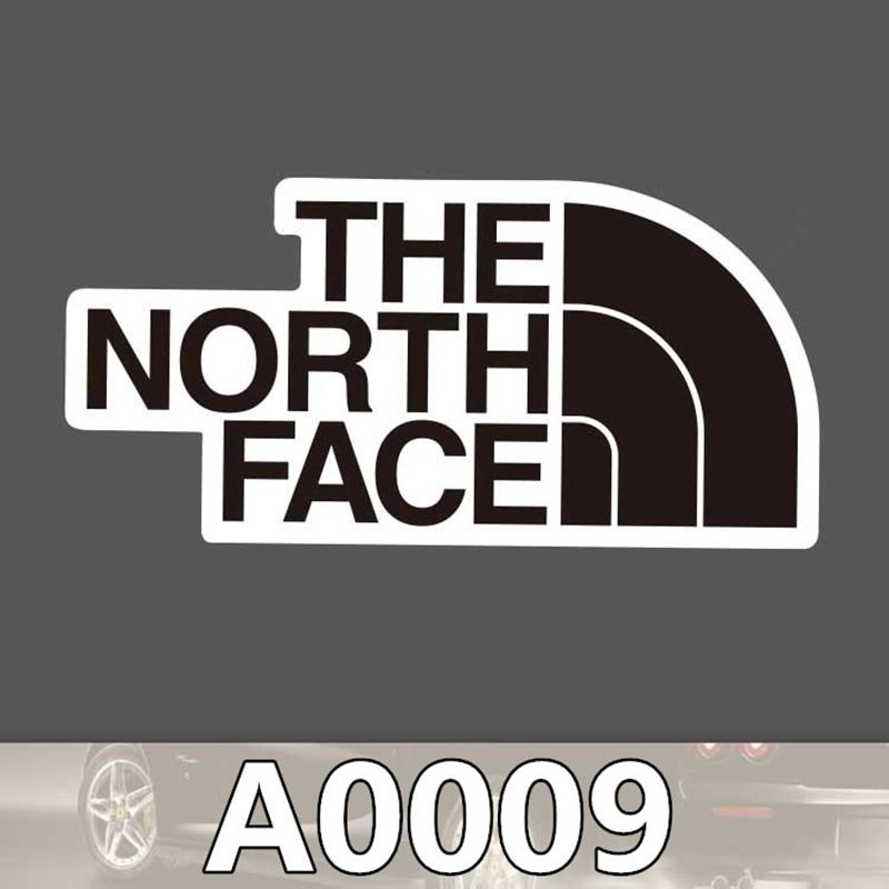 2pcs/bag THE NORTH FACE Tip Sticker Travel Skateboard Trolley Sticker Body Sticker Cartoon Graffiti PVC Waterproof Sticker A0009
