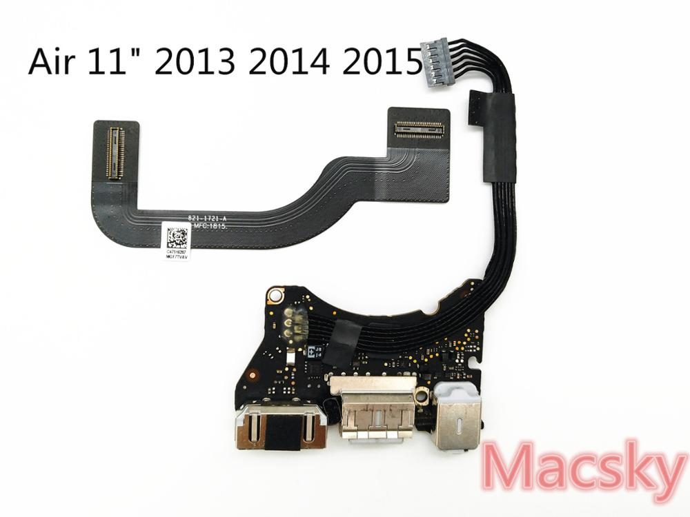 Tested for MacBook Air 11 A1465 I/O Board Power Audio Board USB DC jack 2012 820-3213-A 2013 820-3453-A Cable 821-1721-A 1475-A hk audio pr o 18 sub a
