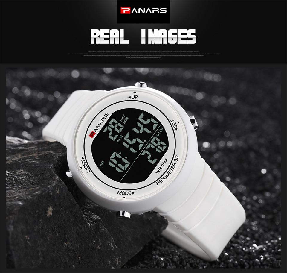 Pedometer Watch Clock Woman Waterproof 50M Outdoor Digital Sports Watch Women Simple Small Bracelet Hand Wrist Watches Hour gift (10)