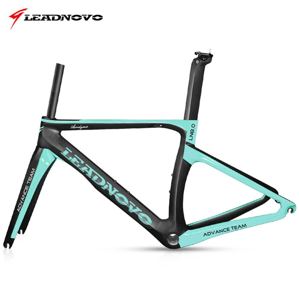 Leadnovo 3 K lucido e opaco superficie della bici della strada del carbonio della bicicletta frameset del BB30/BB68 (BSA), customzied cornice di colore è disponibile