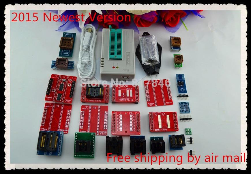 Free ship V8.05 XGECU TL866II Plus TL866A USB Bios Universal Programmer SPI Flash NAND 24 93 25 EEPROM MCU PIC AVR +22adapters free shipping xgecu v7 32 tl866ii plus tl866a nand flash 24 93 25 mcu bios eprom usb avr universal bios programmer 23adapters