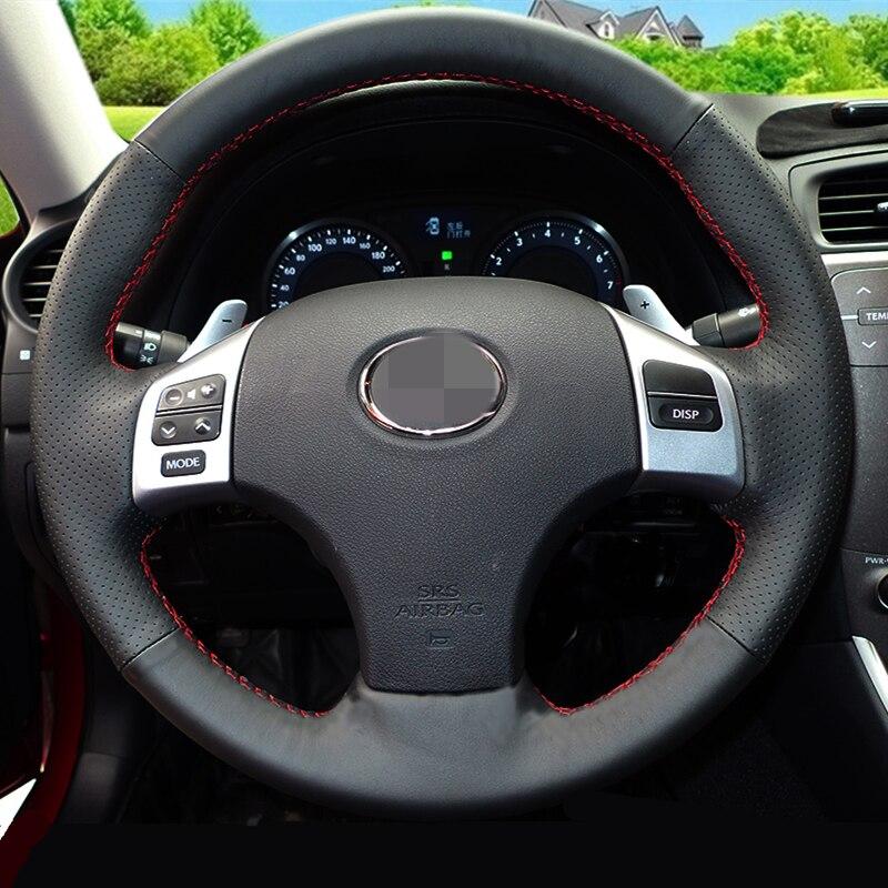 Sjajno crno Umjetna koža Poklopac upravljača za Lexus IS250 IS250C - Dodaci za unutrašnjost automobila - Foto 3