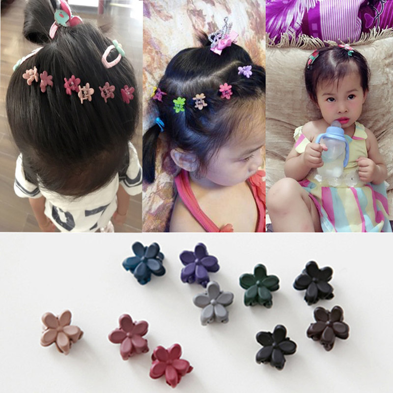 2017 New Small Flower Baby Kids Hair Clips Hair Claws Lovely For Child Cute Hair Accessories Fashion For Student Free Shipping kitavt75417unv10200 value kit advantus id badge holder chain avt75417 and universal small binder clips unv10200