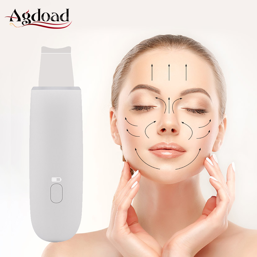 Microdermabrasion Facial Peel Machine Deep Cleaning Beauty Instrument Ultrasonic Skin Scrubber Face Lifting Exfoliating Device