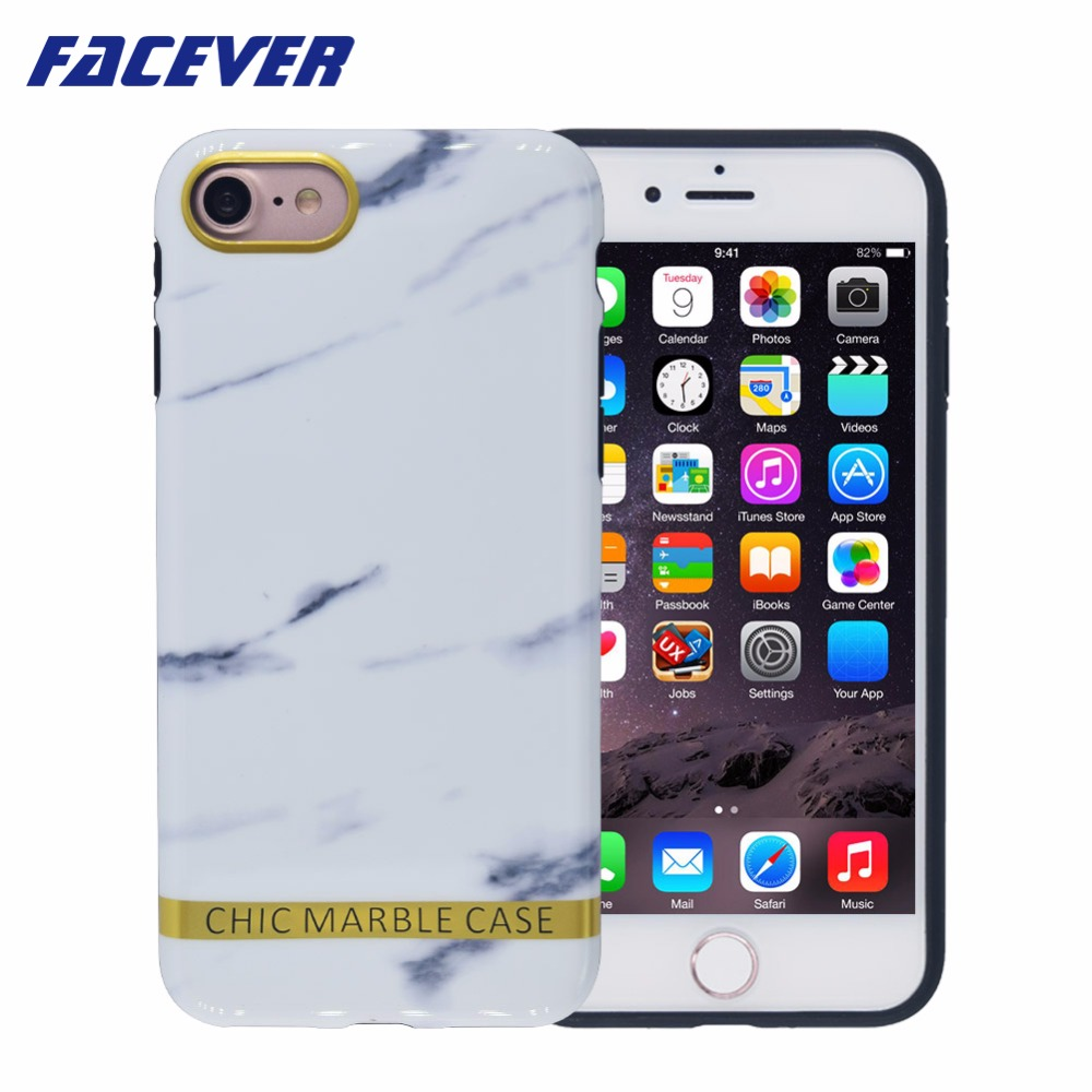 Buy Original Brand Phone Case For Iphone 7 Plus Goospery 8 Soft Feeling Jelly With Hole White Facever Chic Marble 6 6s 47 Inch Gold Bar Fashion Matte Black
