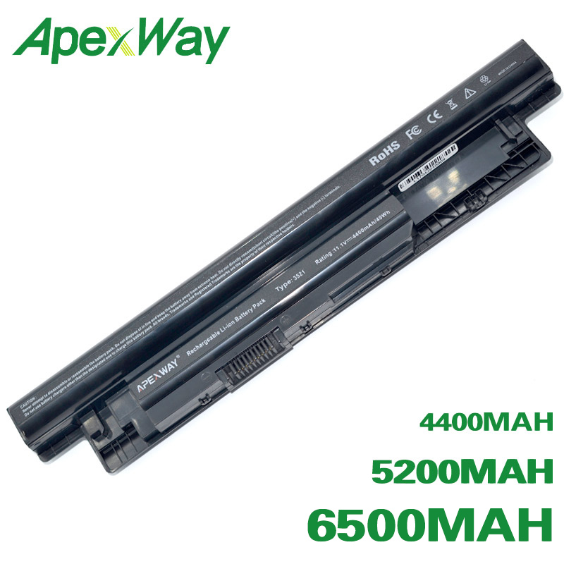 ApexWay Laptop Battery For Dell Inspiron 3521 17R 5721 15R 5521 15 14R 5421 14 3421 MR90Y VR7HM W6XNM Mr90y YGMTN XRDW2 T1G4M