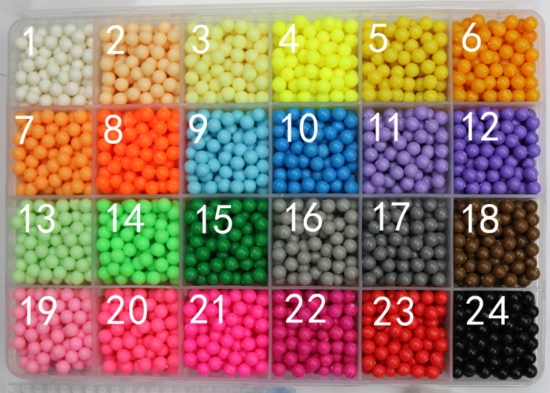 200pcs /bag Water Spray Magic Beads Kids Toys Supplement 3D Puzzle Educational Toys For Children