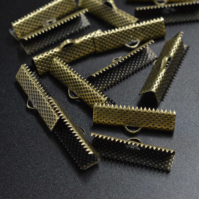 FLTMRH 20 ピース 21 ミリメートルゴールド/シルバー色エンドクラスプ tener 皮ひもネックレスブレスレット Coor ジュエリーメイキング