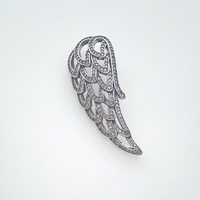 2018 New Design 925 Silver white beads zircon Angel wings hanging pieces charm fits necklace wholesale DIY making jewelry
