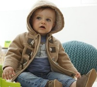 Europe And The United States And Horn Button Children Winter Warm Coat Soft Fashion Coat
