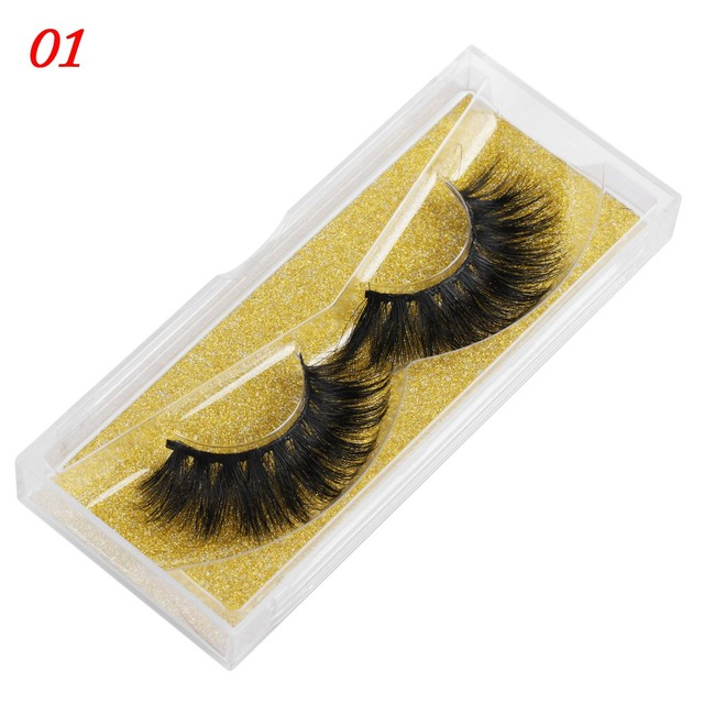 100% Mink Eyelashes 25mm Wispy Fluffy Fake Lashes 3D Makeup Big Volume Crisscross Reusable False Eyelash Beauty Fashion Tool   american doll