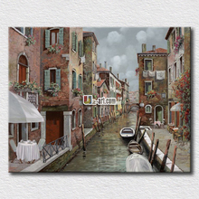 Italy landscape oil paitning river printed on canvas painting for living room decoration high quality