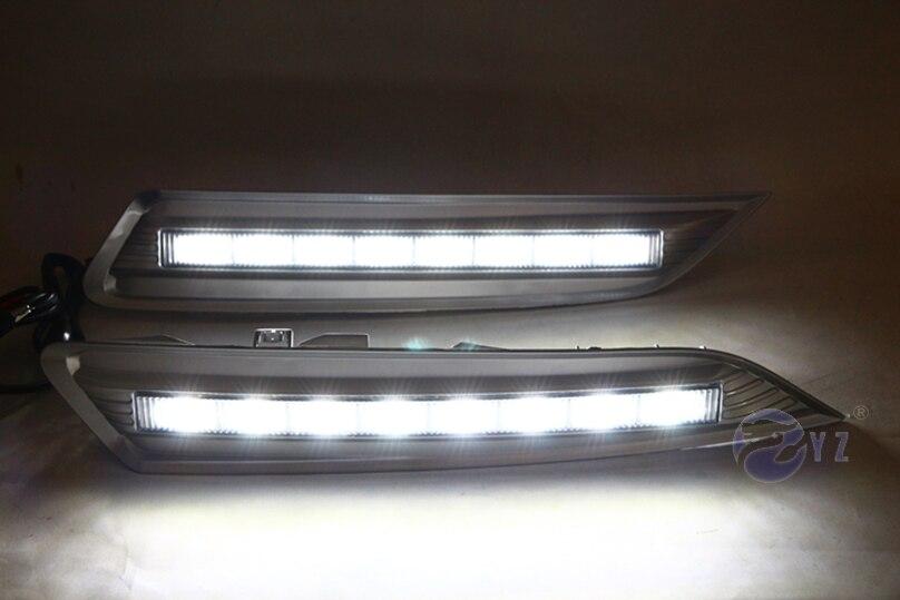 Car Flashing 1Pair DRL For Honda Crosstour 2011 2012 2013 Daytime Running Lights fog lamp cover