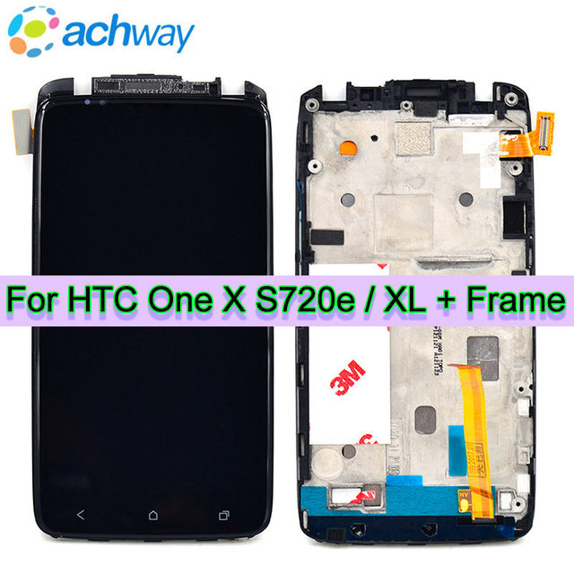 US $16 99 |Black For HTC ONE X/XL S720e LCD Display Touch Screen Digitizer  Assembly With Frame For HTC One xl lcd Display Replacement Parts-in Mobile