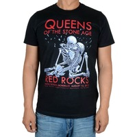 Free Shipping Queens Of The Stone Age Red Rocks 2013 EMEK Black New T Shirt